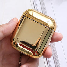 Carica l'immagine nel visualizzatore di Gallery, wholesale Luxury Gold for Apple Airpods Electroplated PC Earphone Case Cover Anti-fall Box For Airpods 2 1 Accessories