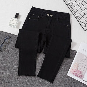 Plus size Jeans Female Denim Pants Black Womens Jeans woman Donna Stretch Bottoms Feminino Skinny Pants For Women Trousers