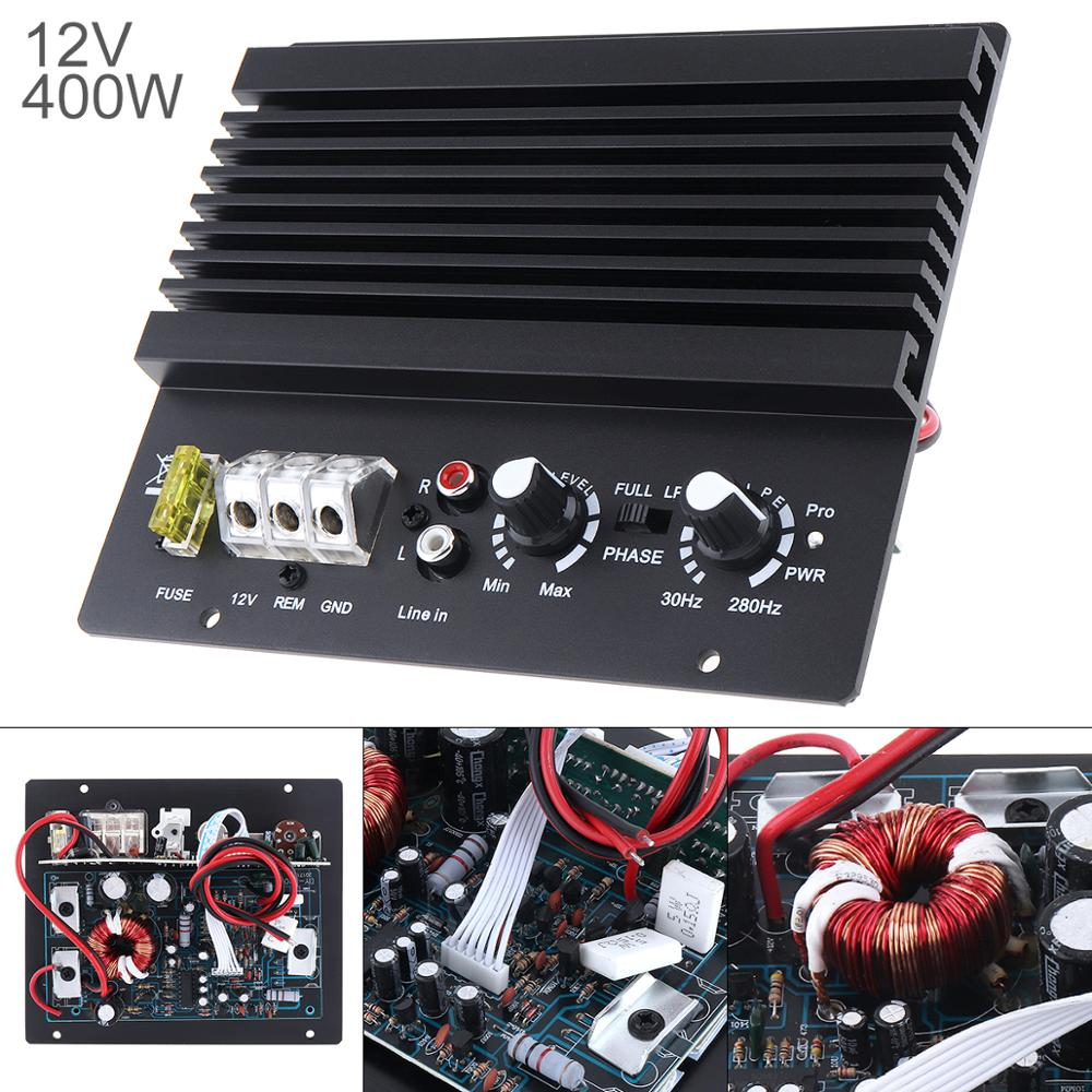 12V 400W Auto Versterker Klasse Ab Digitale 2 Kanaals Zwart Aluminium High Power Car Audio Amp Subwoofer versterker Voor Car Home