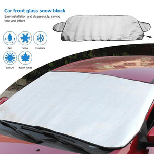 VODOOL Car Windshield Sun Shade Cover Snow Block Winter Auto Windscreen Window Ice Frost Shield Sunshade Covers Curtain 150x70cm