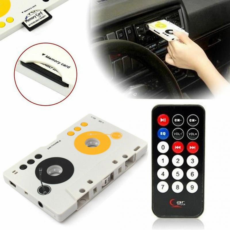 Portable Vintage Car Cassette SD MMC MP3 Tape Player Adapter Kit With Remote Control Stereo Audio Cassette Player US/EU Plug