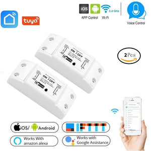 Smart Wifi Switch Wireless Light Timer Switch Remote Control 2pcs/Lot Tuya Smart Life APP works with Alexa Google home  IFTTT