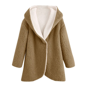 Faux Fur Coat Women Plus Size Hooded Fluffy Teddy Coat Chaqueta Mujer Manteau Femme Hiver 2020 Futerko Bontjas Pelliccia Donna