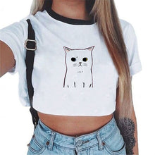 Carica l'immagine nel visualizzatore di Gallery, summer 2018 New Ladies t shirt Women Bustier sexy crop top Women Vest Tops Fitness Women white shirt tank top donna tshirt