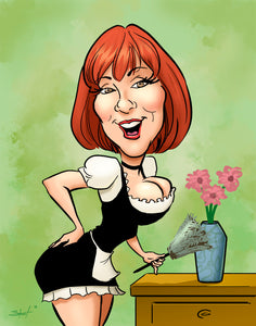 Pinup Caricature