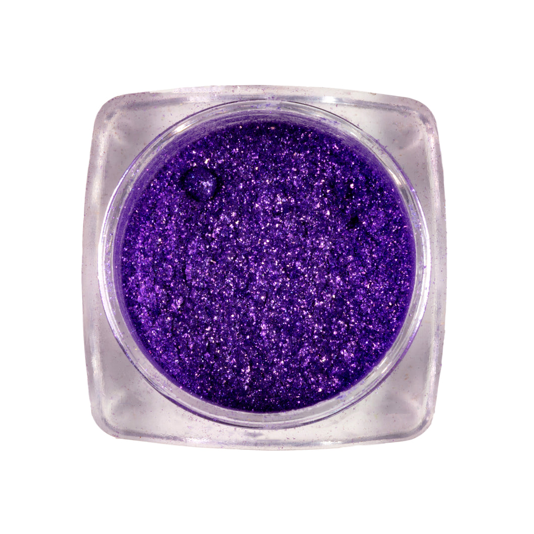 Eco-friendly Loose Glitter Eyeshadow Pigment| < purple shell>>