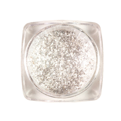 Eco-friendly Loose Glitter Eyeshadow Pigment| < Silver Coast> >