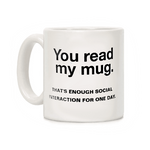 mug original pour lectrice you read my mug