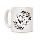 mug original keeps reality away pour lecteur