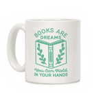 mug original citation books are dreams pour les lecteurs