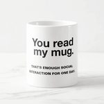 mug de face original citation you read my mug