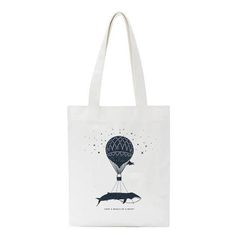 tote bag pas cher in the air baleine