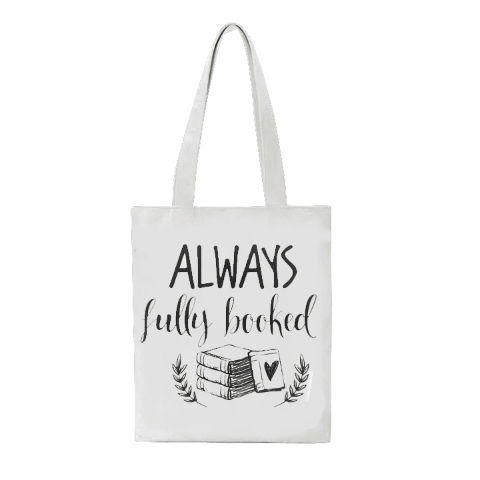 tote bag pas cher always fully booked en coton naturel