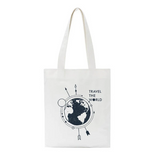 tote bag pas cher en coton travel the world