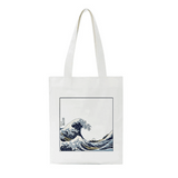 tote bag pas cher original la vague en coton