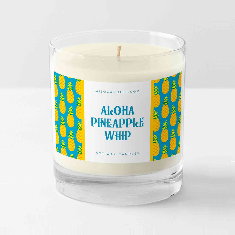 Disney Inspired Aloha Pineapple Whip Candle