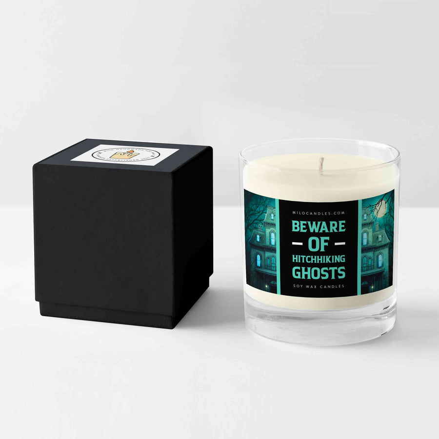 Beware Of Hitchhiking Ghosts Candle - Handmade With 100% Natural Soy Wax