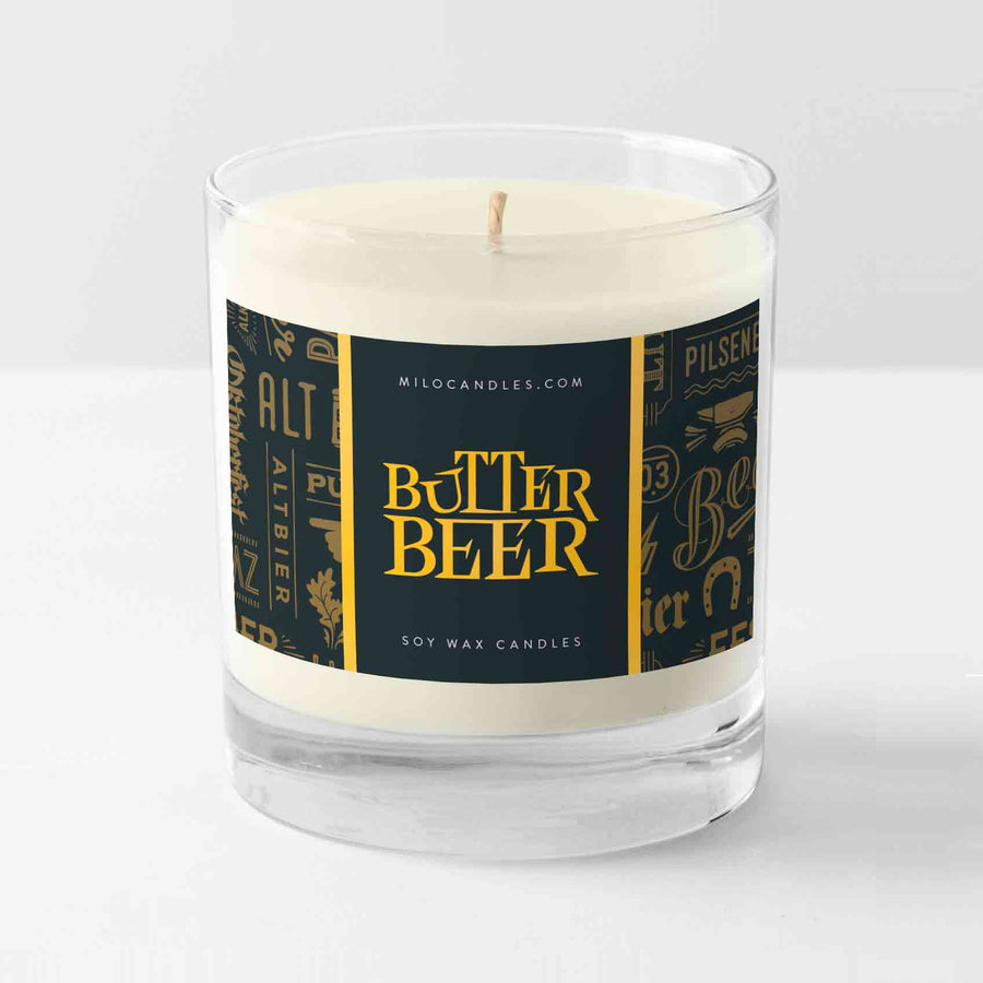 Butterbeer Candle - Handmade With 100% Natural Soy Wax