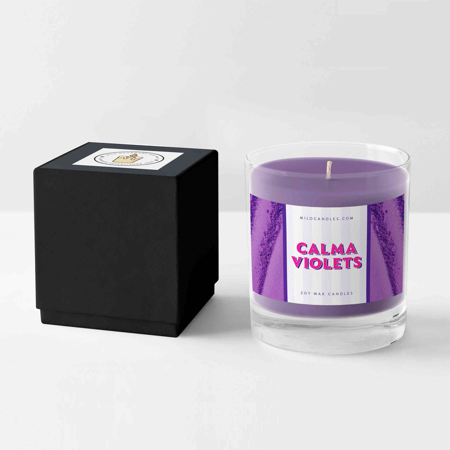 Calma Violets Candle - Handmade With 100% Natural Soy Wax
