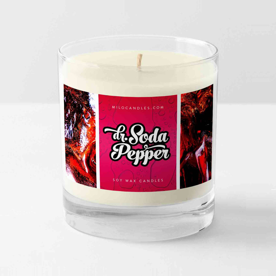 Dr Soda Pepper Candle- 100% Natural Hand Poured Soy Wax Candle