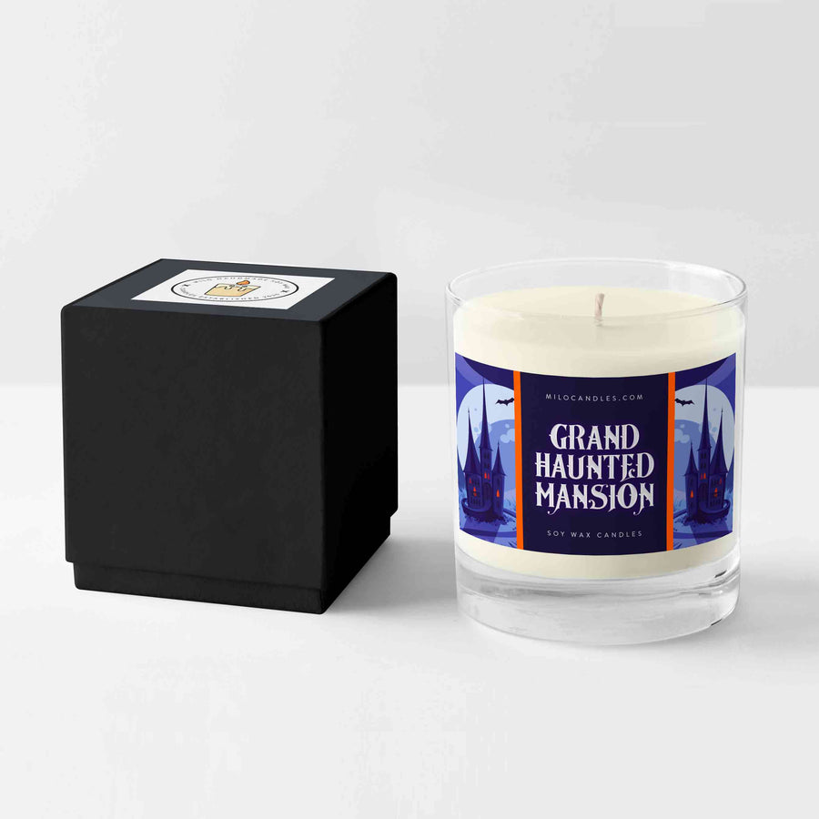 Grand Haunted Mansion Candle - Handmade With 100% Natural Soy Wax