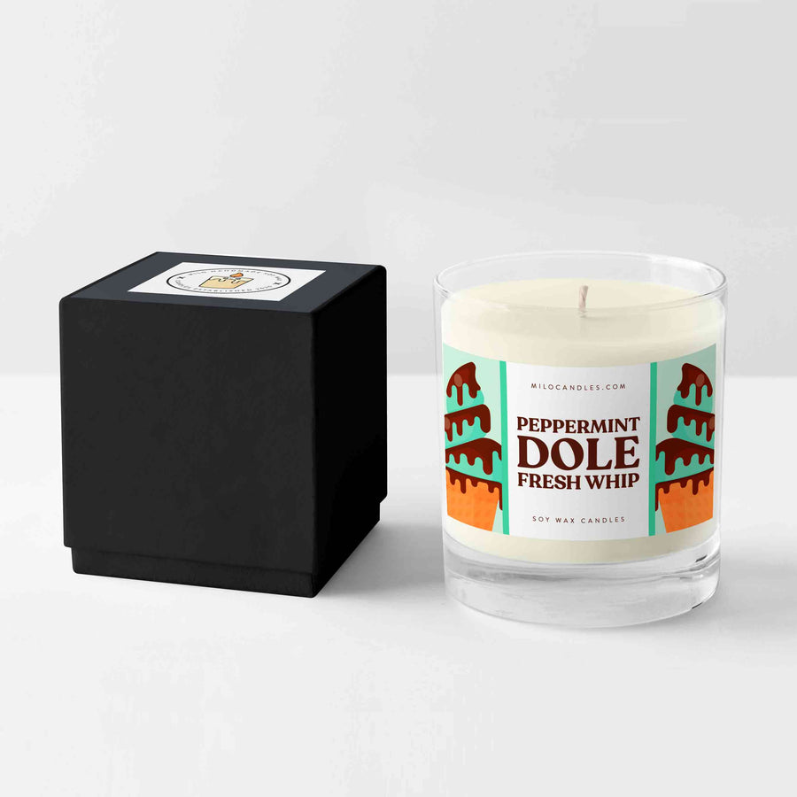 Peppermint Dole Whip Candle - Handmade With 100% Natural Soy Wax