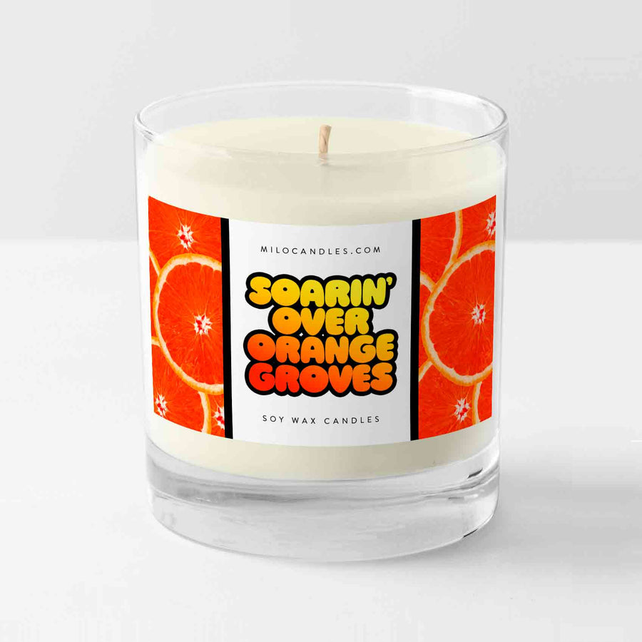 Soarin Over Orange Groves Candle - Handmade With 100% Natural Soy Wax