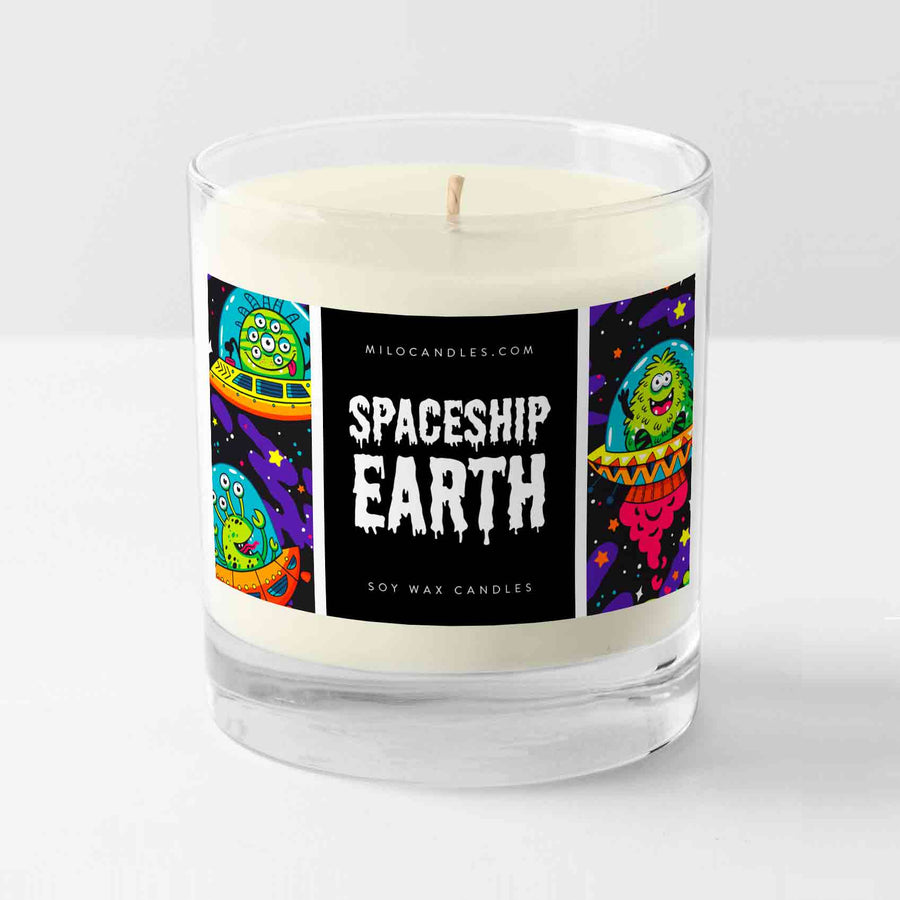 Spaceship Earth Candle - Handmade With 100% Natural Soy Wax