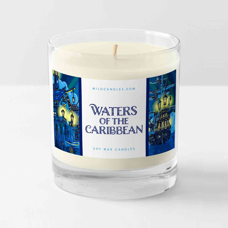 Waters Of The Caribbean Candle - Handmade With 100% Natural Soy Wax
