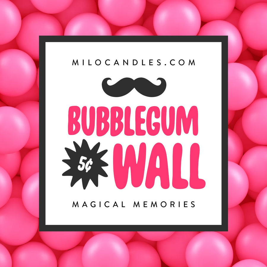 Bubblegum Wall Candle - Handmade With 100% Natural Soy Wax