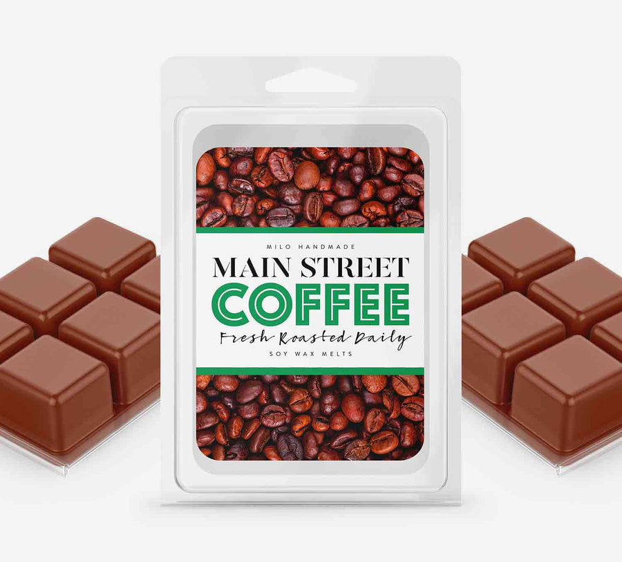 Main Street Coffee Wax Melts - Hand Poured With 100% Natural Soy Wax