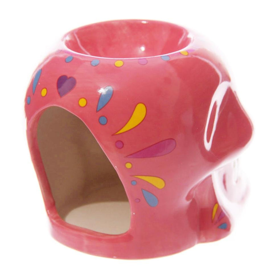 Day Of The Dead Wax Melt Burner (Pink) - Free Wax Melt!