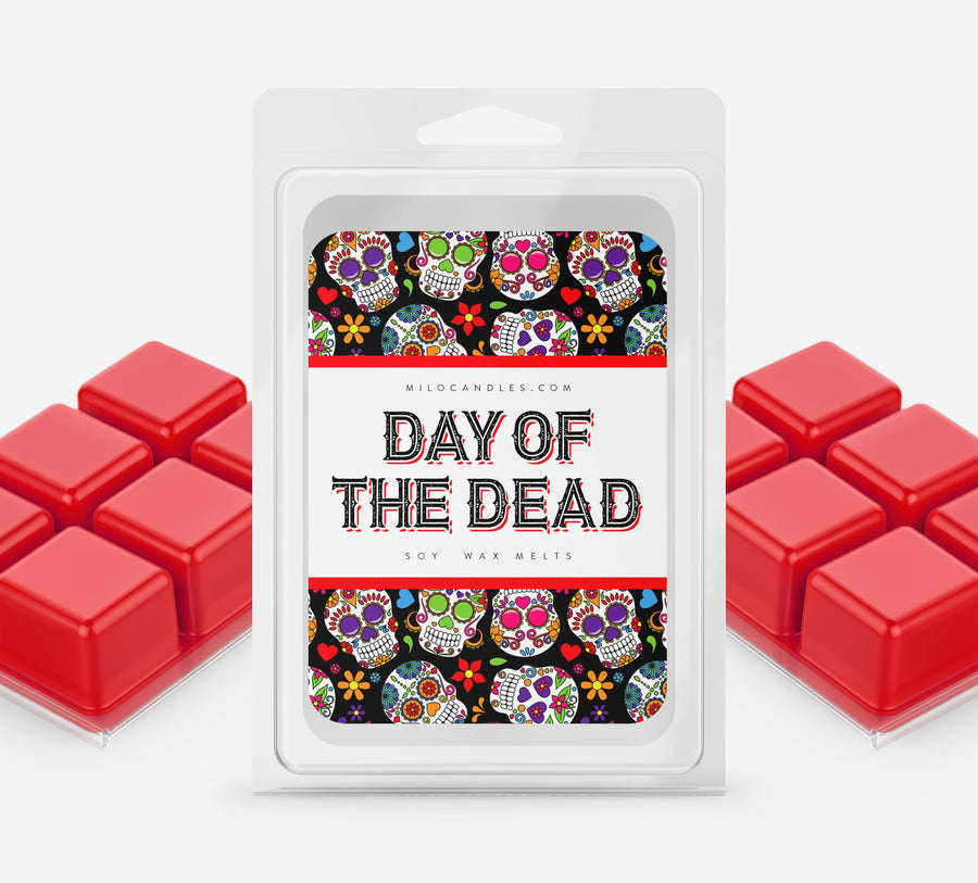 Day Of The Dead Wax Melt Burner (Blue) - Free Wax Melt!