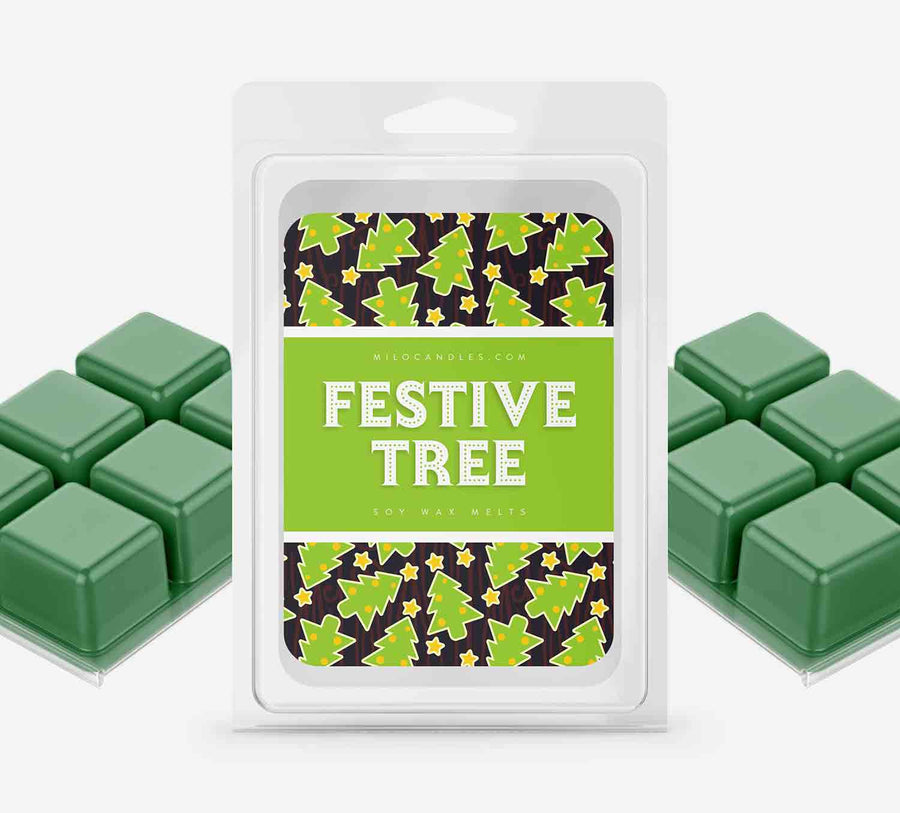 Festive Tree Wax Melts - Hand Poured With 100% Natural Soy Wax