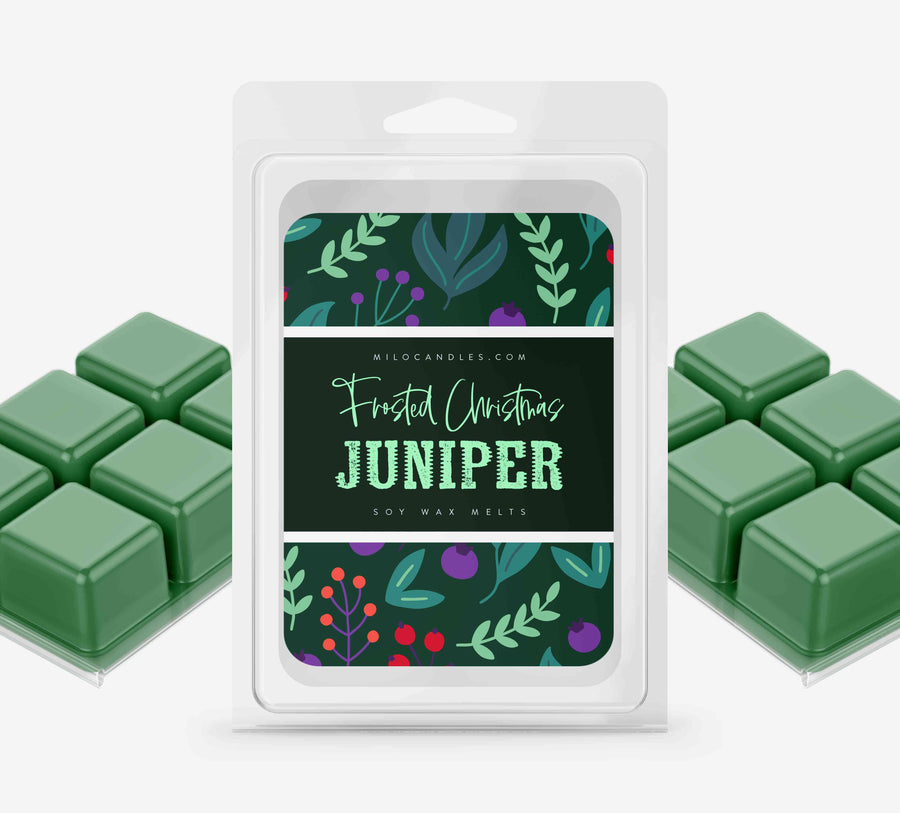 Frosted Christmas Juniper Wax Melts - Hand Poured With 100% Natural Soy Wax