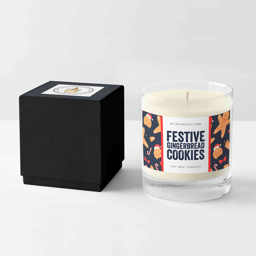 Gingerbread Cookies Candle - Handmade With 100% Natural Soy Wax