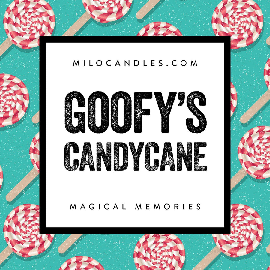 Goofys Candy Cane Candle - Handmade With 100% Natural Soy Wax