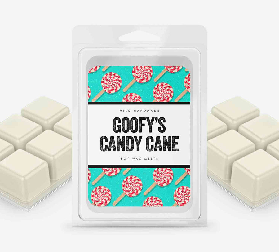 Goofys Candy Cane Wax Melts - Hand Poured With 100% Natural Soy Wax