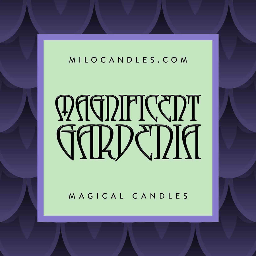 Magnificent Gardenia Candle - 100% Natural Hand Poured Soy Wax Candle
