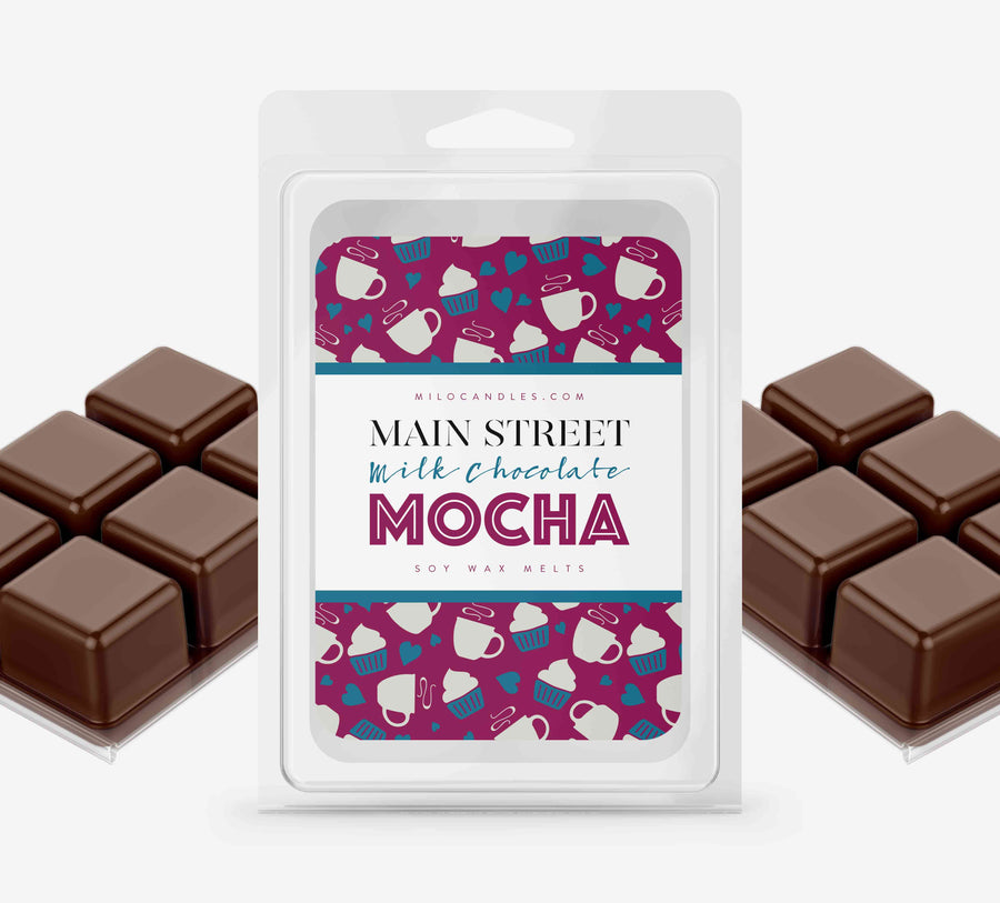 Main Street Chocolate Mocha Wax Melts - Hand Poured With 100% Natural Soy Wax