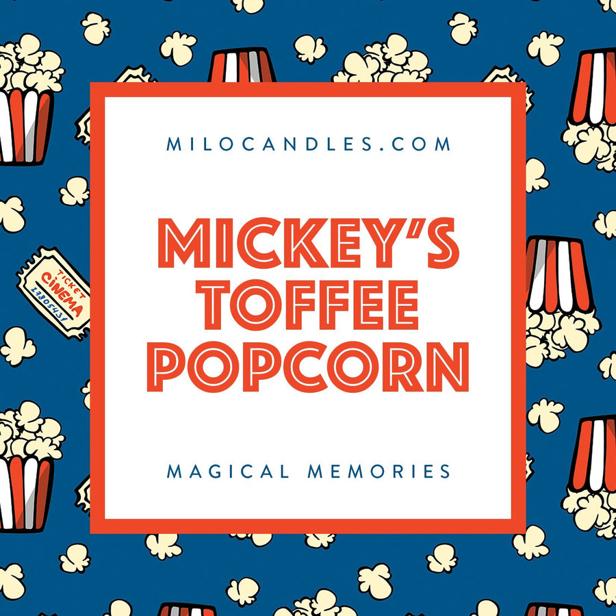 Mickey's Toffee Popcorn Candle - Handmade With 100% Natural Soy Wax