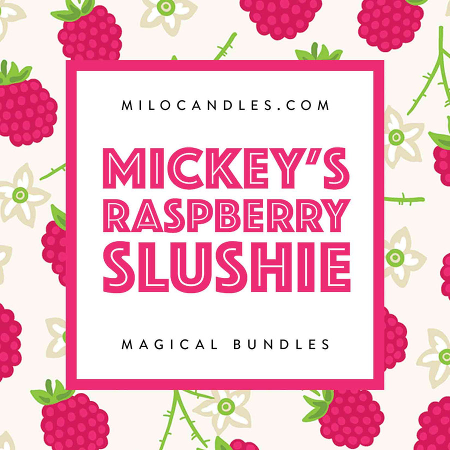 Mickey's Raspberry Slushie Candle - Handmade With 100% Natural Soy Wax
