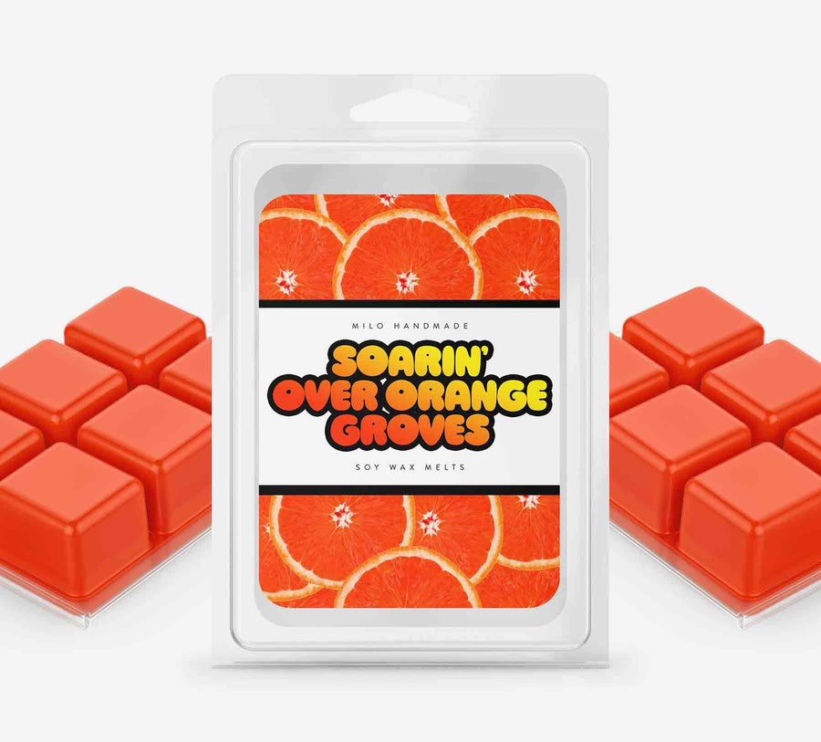 Soarin Over Orange Groves Wax Melts - Hand Poured With 100% Natural Soy Wax