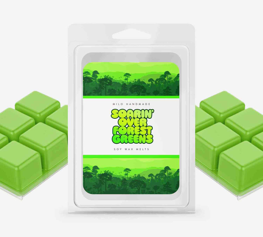 Soarin Over Forest Greens Wax Melts - Hand Poured With 100% Natural Soy Wax