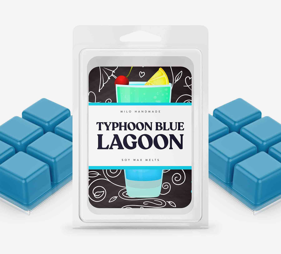 Typhoon Blue Lagoon Wax Melts - Hand Poured With 100% Natural Soy Wax