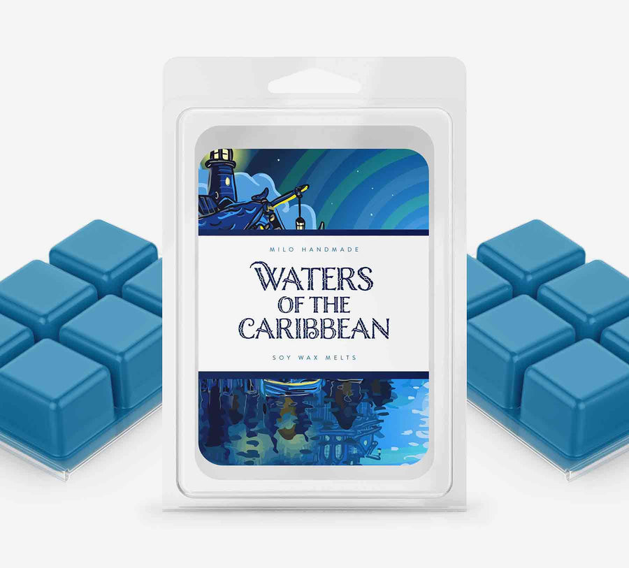 Waters of the Caribbean Wax Melts - Hand Poured With 100% Natural Soy Wax