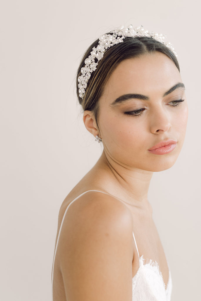 SOFIA // Statement silver and pearl hairband