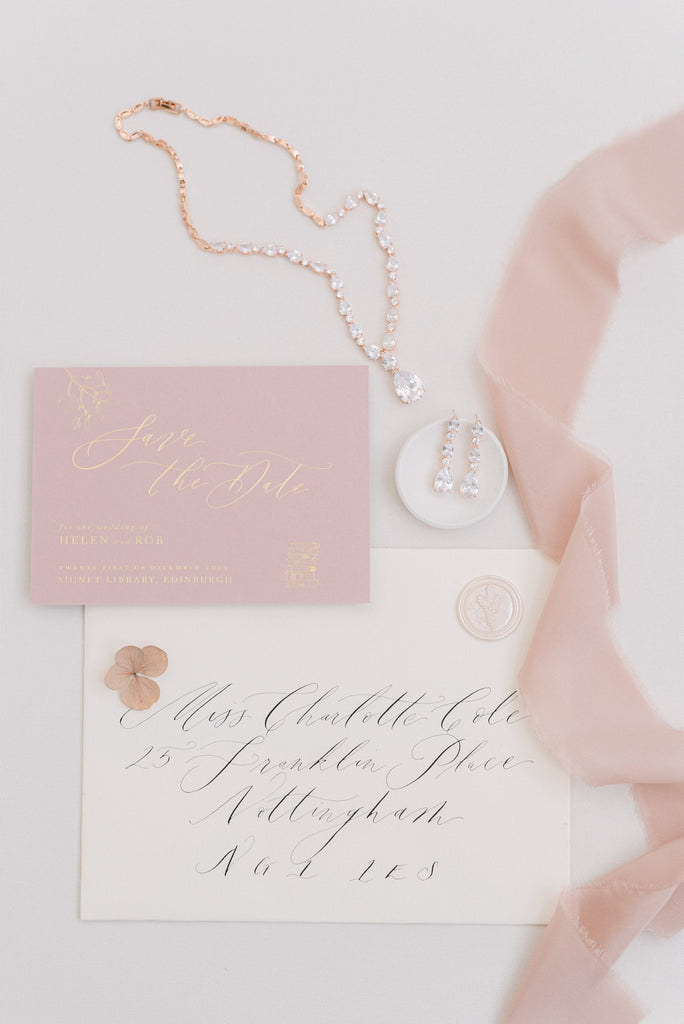 BETHANY // Rose gold bridal jewellery set