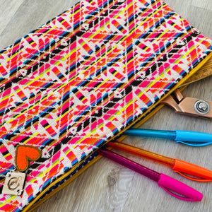 Rainbow Pencil Case Saggy Bag