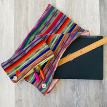 Load image into Gallery viewer, Rainbow Stripe Pencil Case Saggy Bag